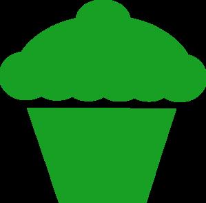299x294 Green Cupcakes Clipart