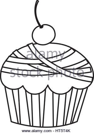 300x429 Birthday Cake Silhouette Set Vector Illustration Stock Vector Art