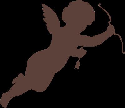 400x347 Cupid Silhouette Clip Art