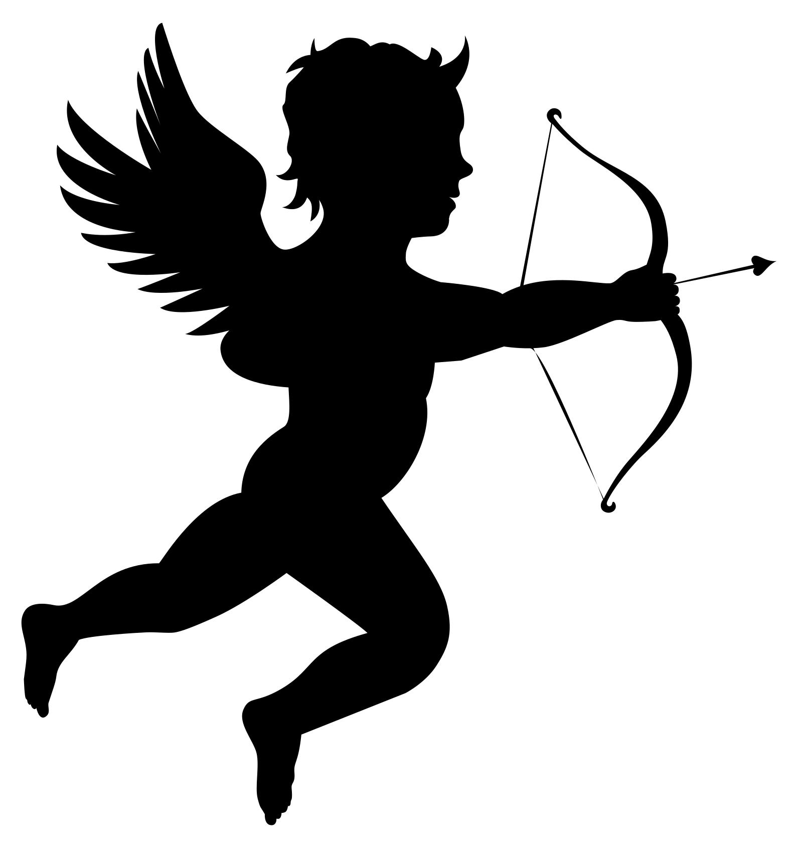 1591x1691 Martin74s Cupid Silhouette Clipart