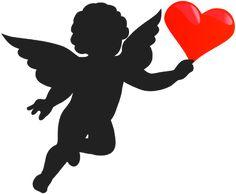 236x194 Flying Cupid Silhouette Silueta Cupid, Silhouettes