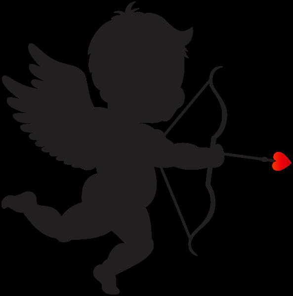 593x600 Pin By Elitabrahmane On Silueti Cupid, Silhouettes