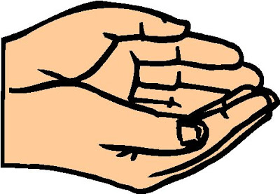 400x278 Hands Cupped Together Clipart
