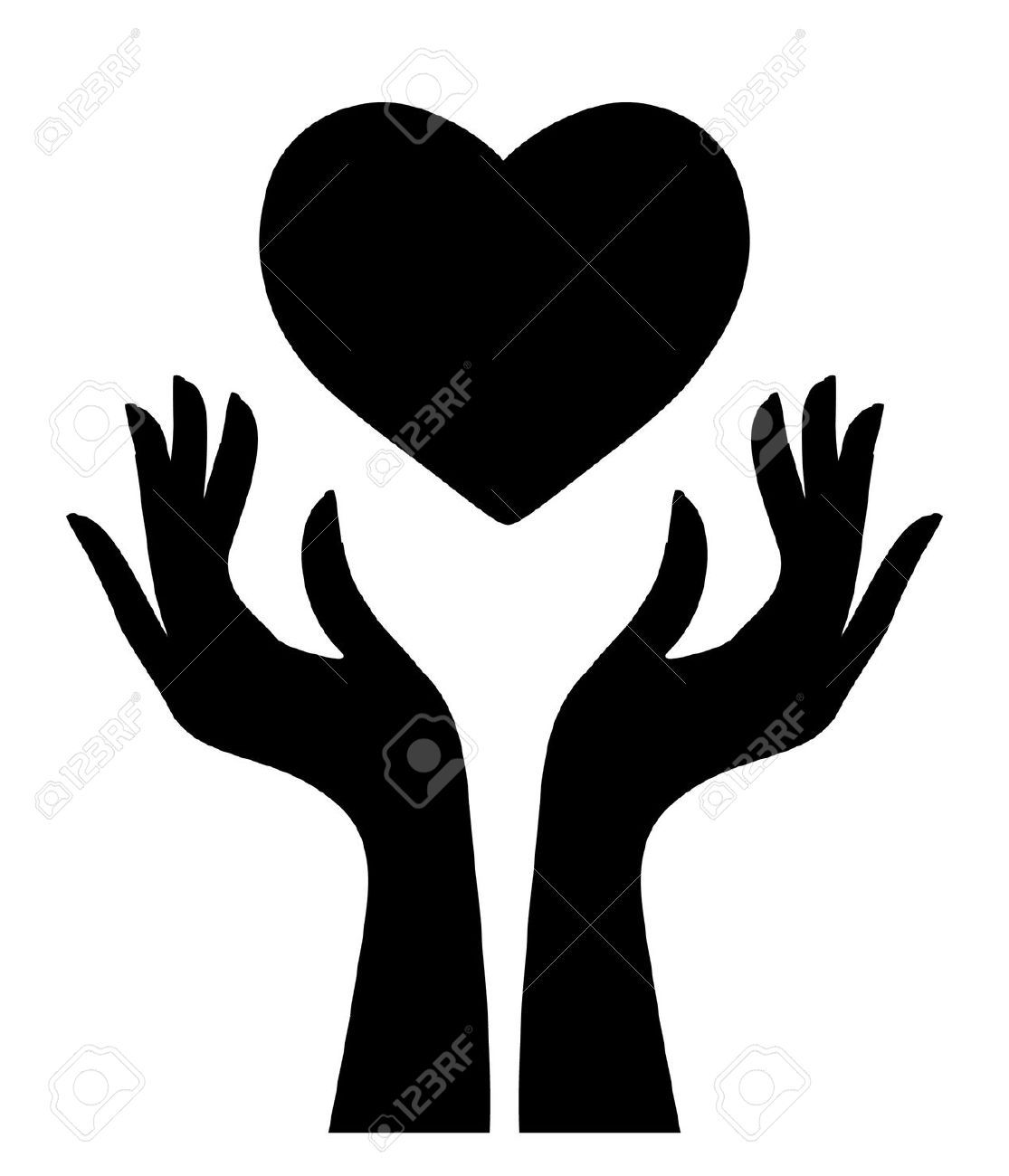 1115x1300 Cupped Hands With Butterfly Silhouette