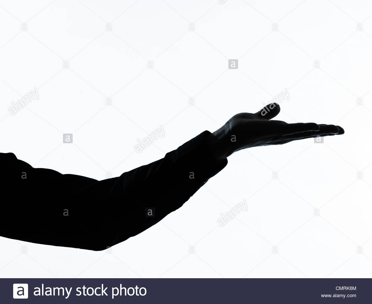 1300x1061 One Caucasian Man Empty Hand Open Portrait Silhouette In Studio
