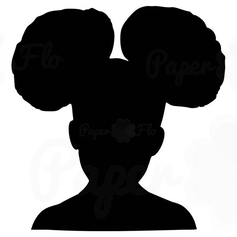 800x800 Girl Afro Puffs Svg Silhouette Clip Art Black Girl Afro Puff