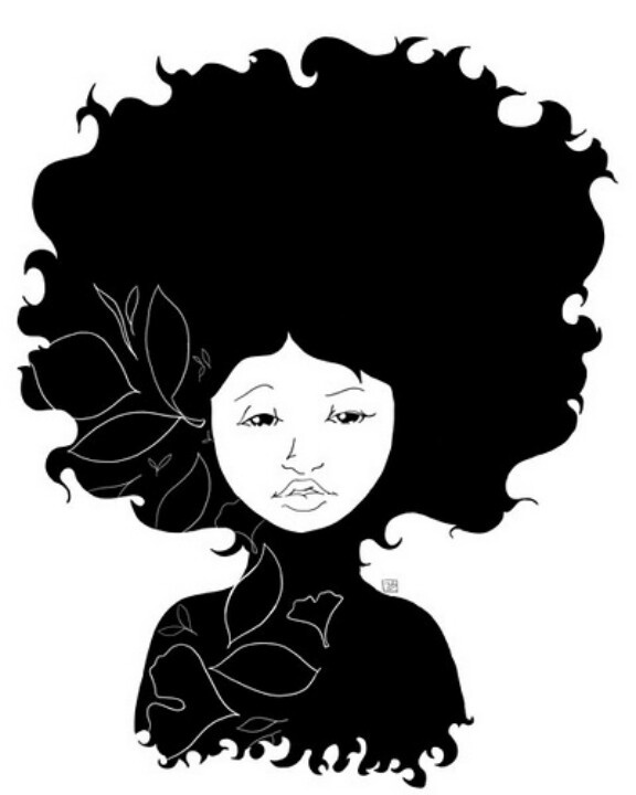 576x720 Black Girl Afro Clipart Collection