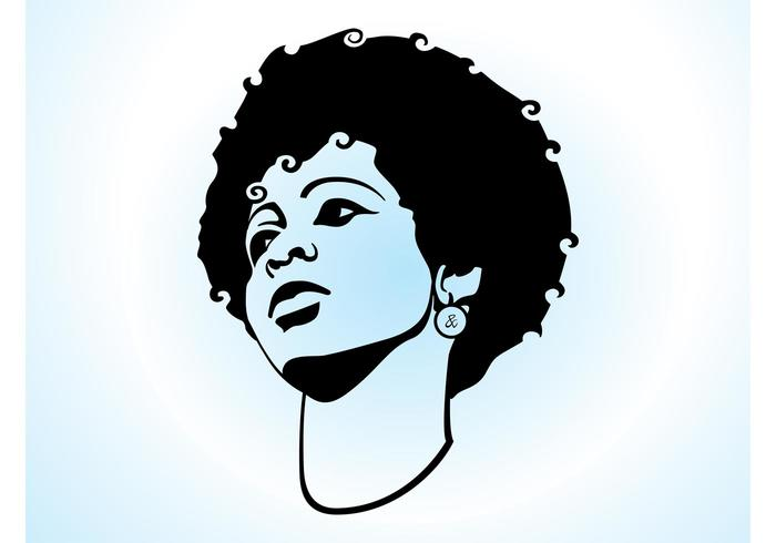 Natural Hair Face Clipart