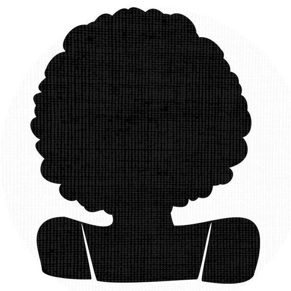 570x570 Afro Svg Silhouette Clip Art Afro Curly Natural Hair Png Files