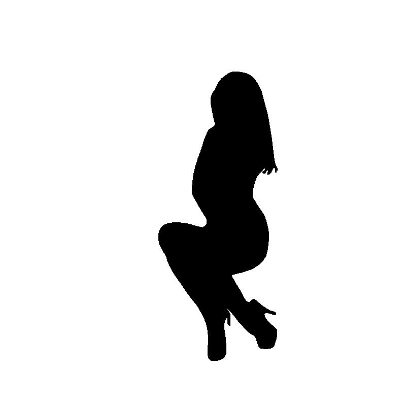 800x800 Curvy Woman Silhouette Clip Art