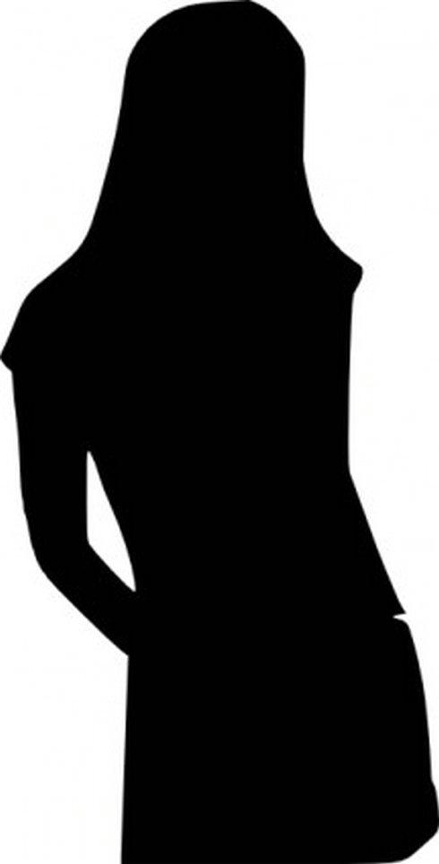 490x964 Curvy Girls Silhouette Clipart