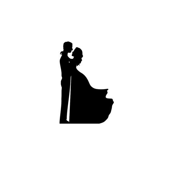 570x570 Curvy Bride And Groom Silhouette Wedding Cake Topper Groom