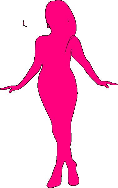 378x600 Curvy Woman Silhouette Clip Art