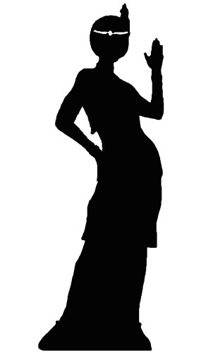 285x500 Flapper Girl Silhouette 170cms Lifesize Cutout Partyrama.co.uk