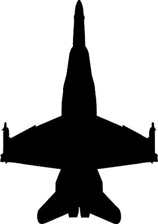 318x450 Haynes Silhouette Jet (F18 Hornet) V Wall Decal Cutout