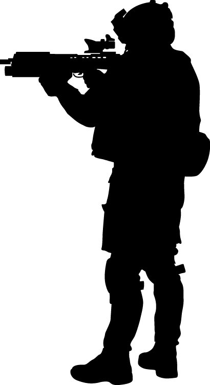 410x750 Wallhogs Haynes Military Soldier Iii Silhouette Cutout Wall Decal