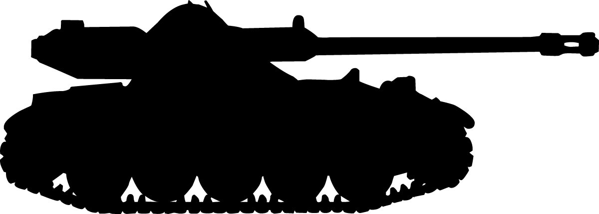 1200x430 Wallhogs Haynes Military Tank Ii Silhouette Cutout Wall Decal