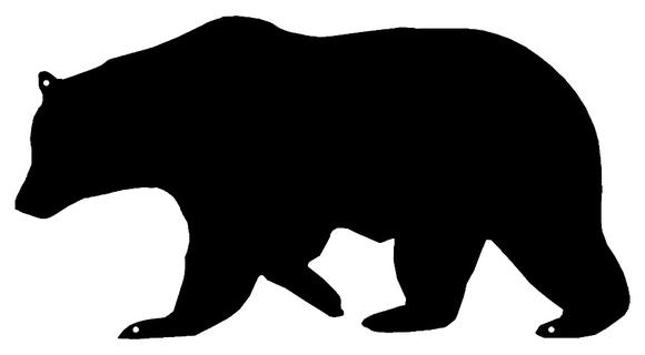 580x320 Bear Laser Cut Out Wall Silhouette Metal Sign 7.5x14 Hang
