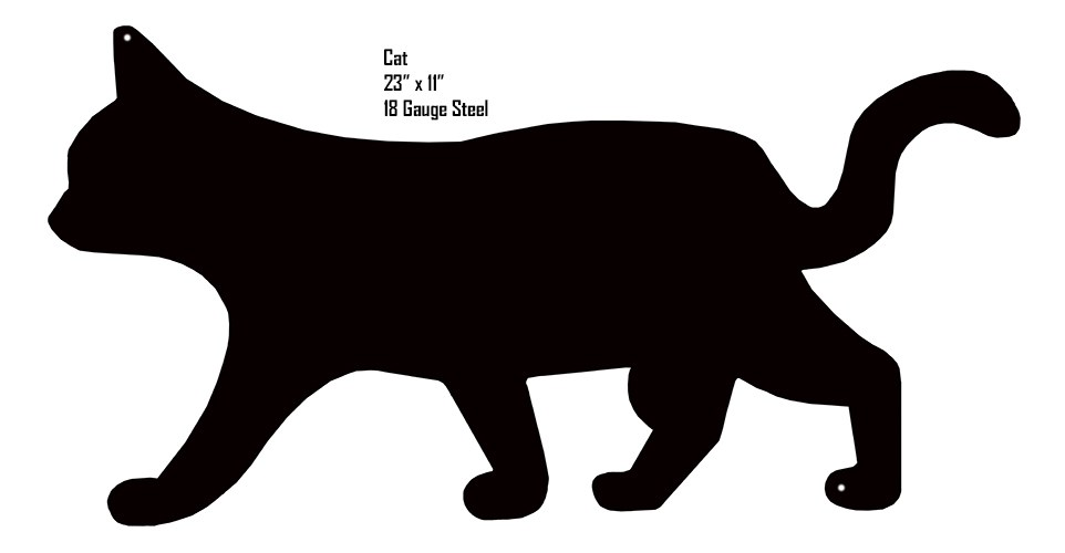962x500 Cat Animal Silhouette Laser Cut Out Sign Reproduction