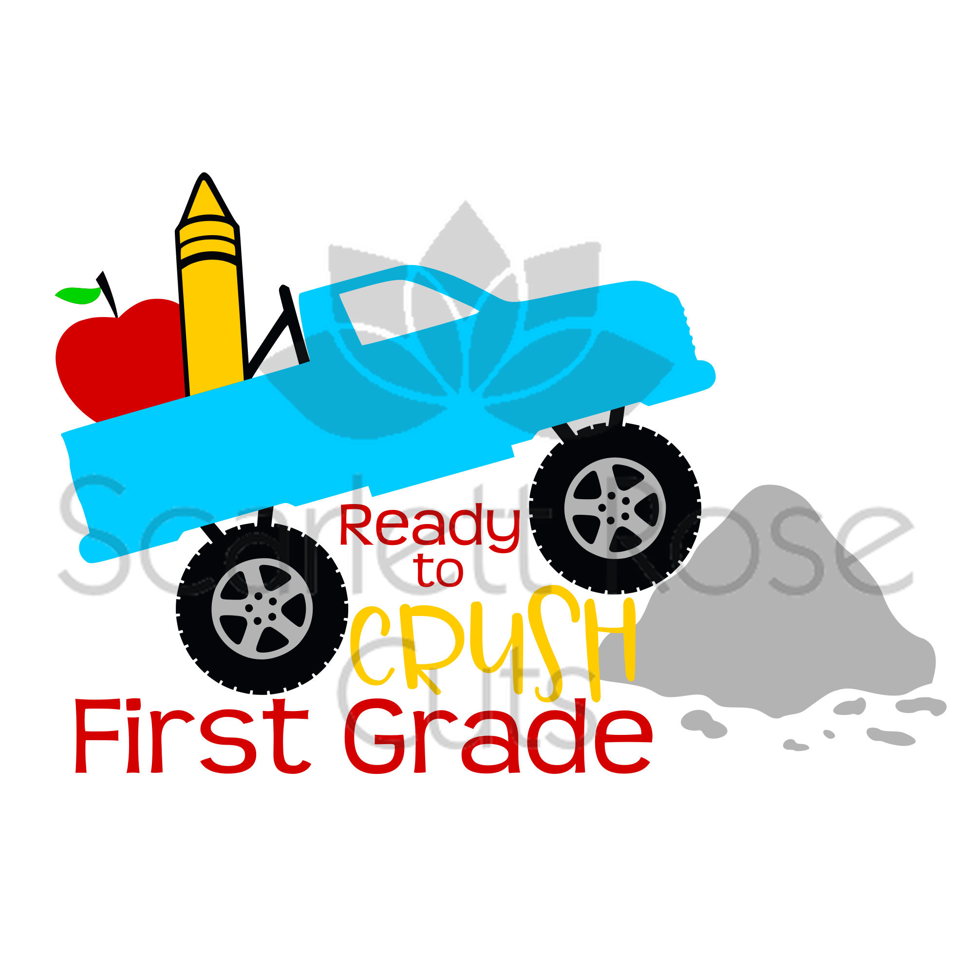 2000x2000 Ready To Crush First Grade Svg Cut File Silhouette Cameo Back
