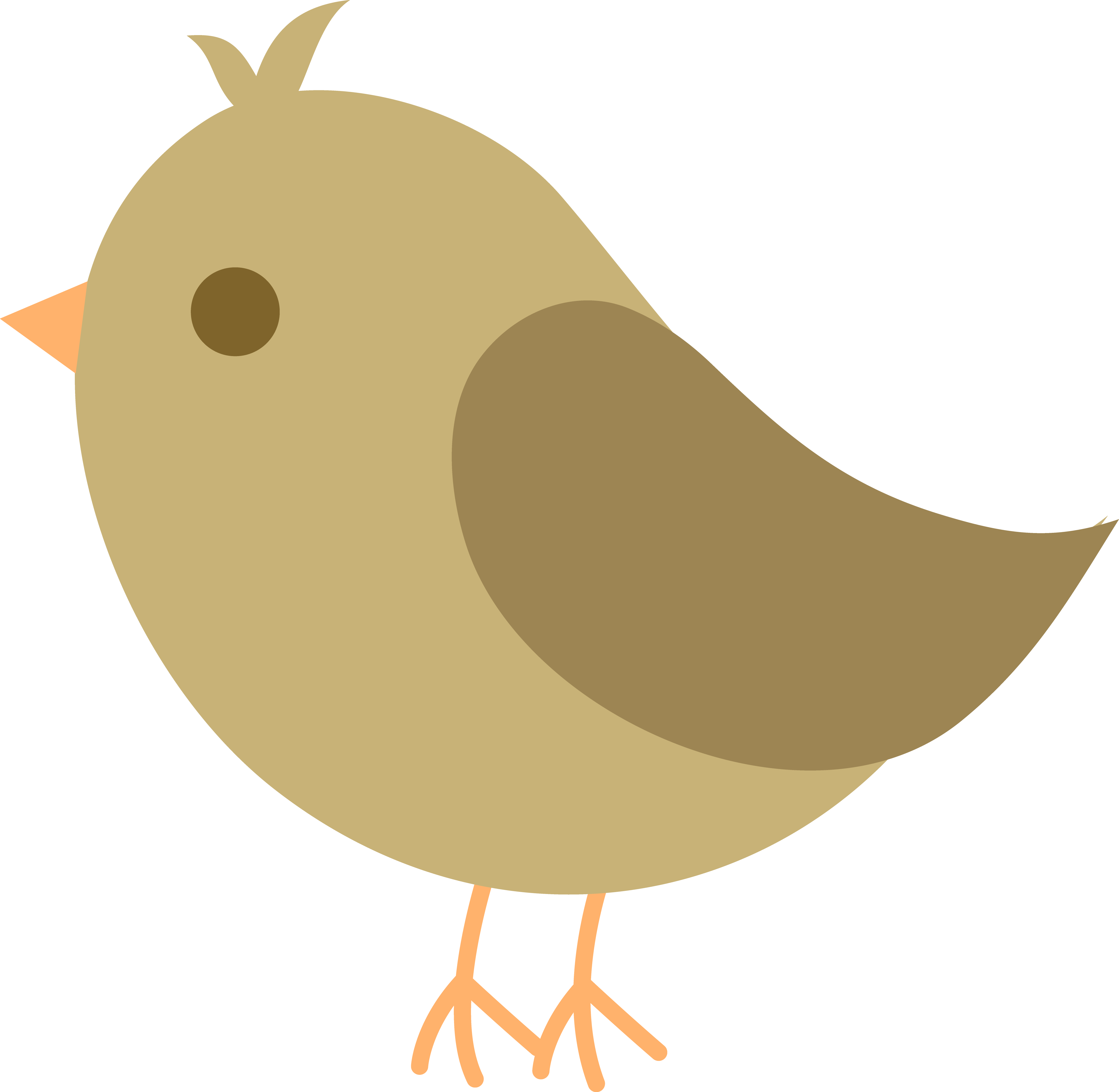 4621x4511 Clip Art Cute Bird Silhouette Lemonize