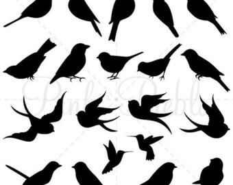 340x270 Bird Clipart Clip Art, Bird Silhouette Clipart, Cute Bird, Animal