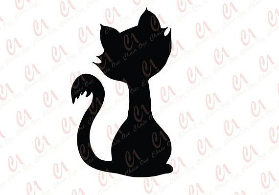 570x399 Cat Silhouette Cut File For Die Cut Machines Cricut Silhouette