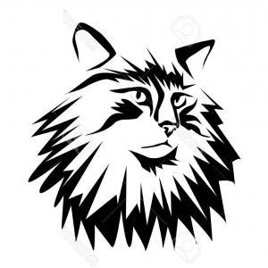 300x300 Cute Cat Head Pop Art Isolated On White Vector Createmepink