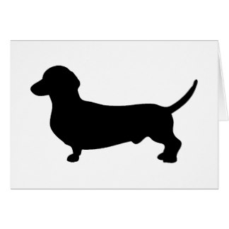324x324 Dog Silhouette Note Cards Zazzle