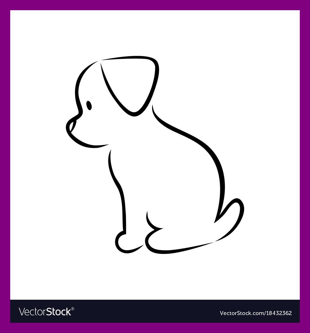 1070x1150 Inspiring Cute Puppy Silhouette On White Royalty Vector Image Pics