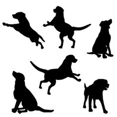 236x236 Vector Dogs Silhouettes Free Pack 123freevectors Bravo