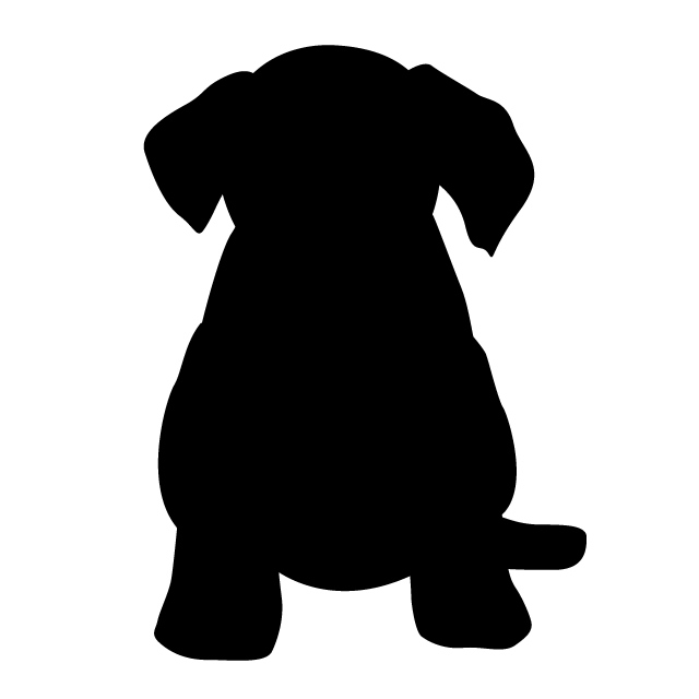 640x640 Puppy Animal Silhouette Free Illustrations