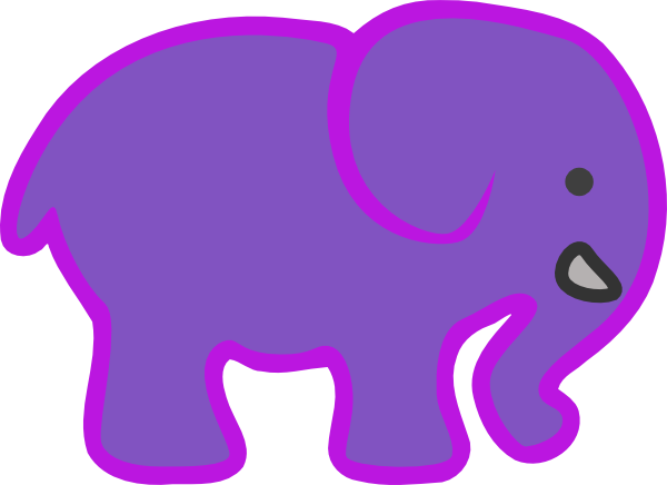 600x436 Elephant Silhouette Clip Art