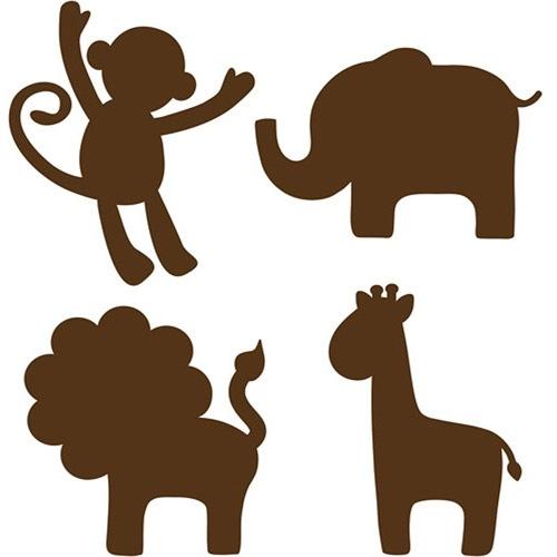 500x500 Cute Elephant Silhouette Clip Art