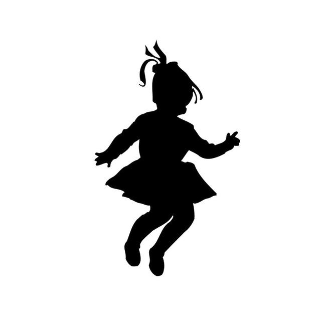 640x640 9.615.6cm Cute Little Girl Dancing Car Stickers Cartoon Images
