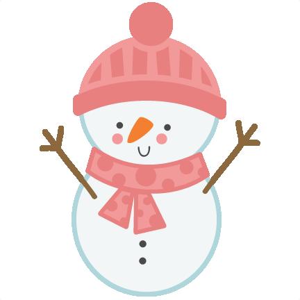 432x432 Girl Snowman Svg Scrapbook Cut File Cute Clipart Files