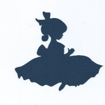 336x337 Little Girl In Dress Silhouette
