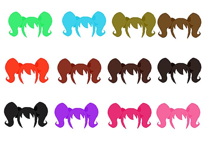 700x490 Hair Silhouette Clipart
