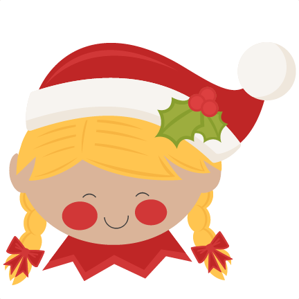 432x432 Christmas Elf Girl Svg Scrapbook Cut File Cute Clipart Files