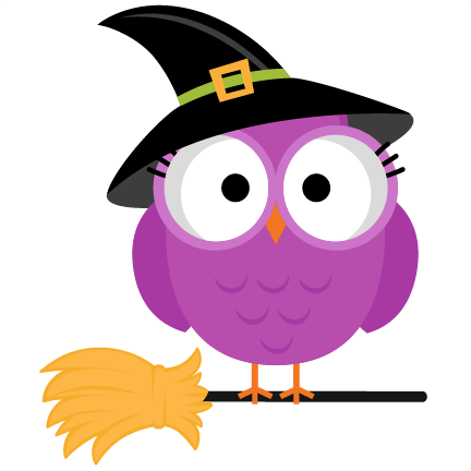 432x432 Halloween Witch Owl SVG scrapbook cut file cute clipart files for