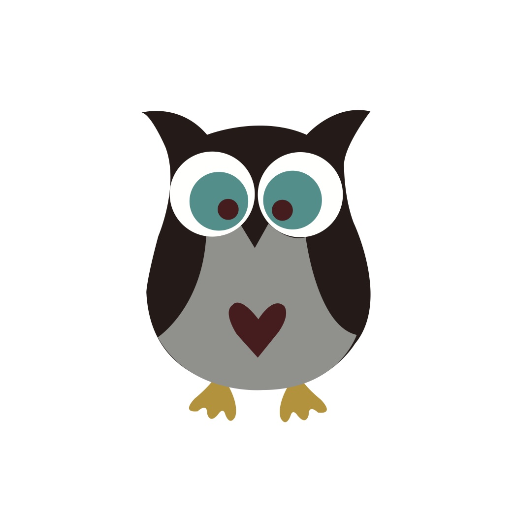 1050x1050 Owl Silhouette Clipart