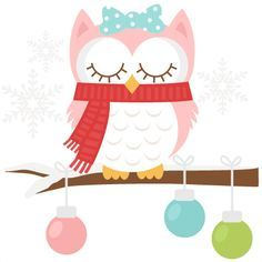 236x236 Santa Owl Scrapbook Clip Art Christmas Cut Outs For Cricut Cute