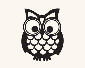 340x270 Cute Owl Silhouette