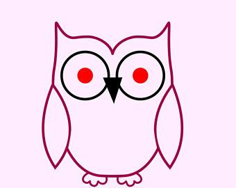 340x270 Cute Owl Silhouette Etsy