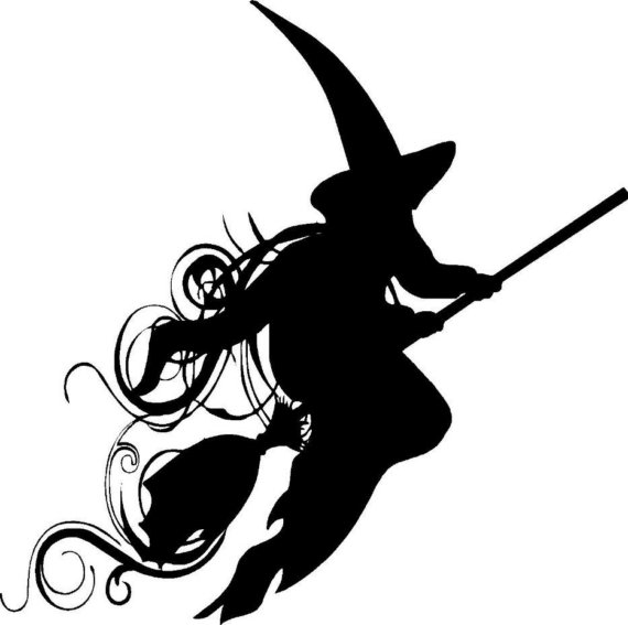 570x567 Witch Vinyl Spooky