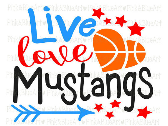 570x428 Baketball Mustangs Svg Clipart Cut Files Silhouette Cameo Svg