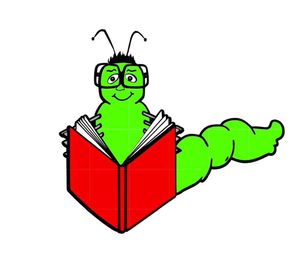 1051x955 Svg Studio Book Worm Reading Scalable Vector Instant Download
