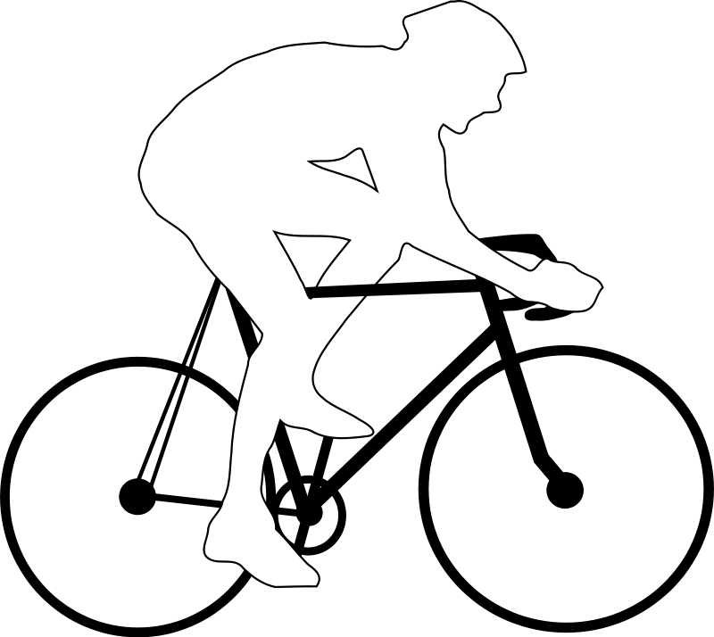 800x714 Cyclist Silhouette Free Vector 4vector