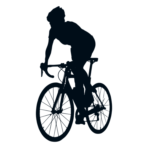 512x512 Cyclist Spriting Silhouette