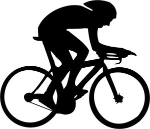 300x257 Die Cut Silhouette Cyclist Road Racer X 10 For Cardmaking
